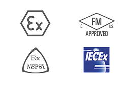 A collection of approval logos that apply to the H250 M40